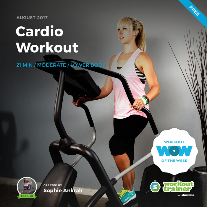 Workout Trainer by Skimble: Free Workout of the Week: Cardio Workout by Sophie Ankrah