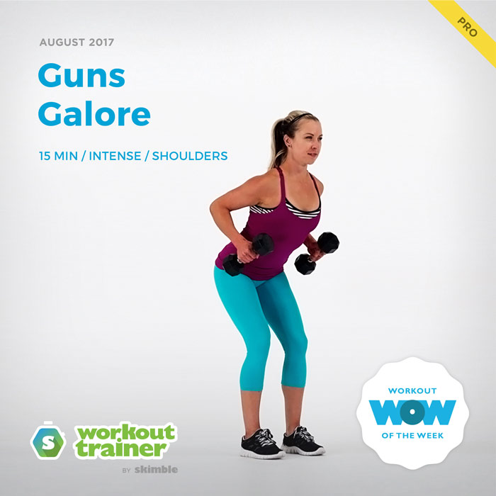 Workout Trainer by Skimble: Pro Workout of the Week: Guns Galore