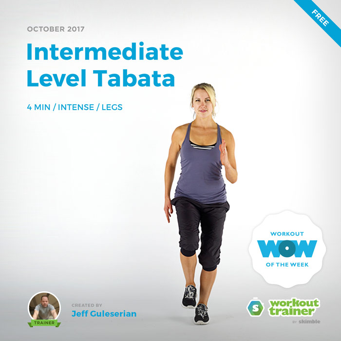 Workout Trainer by Skimble: Free Workout of the Week: Intermediate Level Tabata by Jeff Guleserian