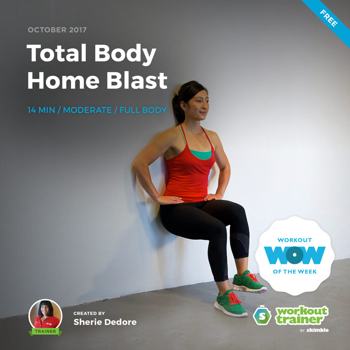 Workout Trainer by Skimble: Free Workout of the Week: Total Body Home Blast