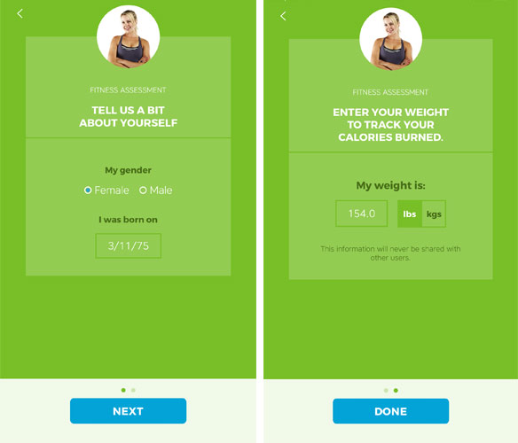 Workout Trainer by Skimble: Client Check-Ins: Calories Burned