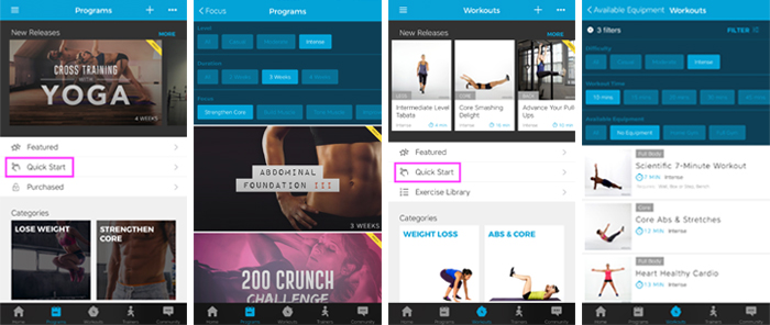 Workout Trainer by Skimble: Fitness Assessment: Quick Start