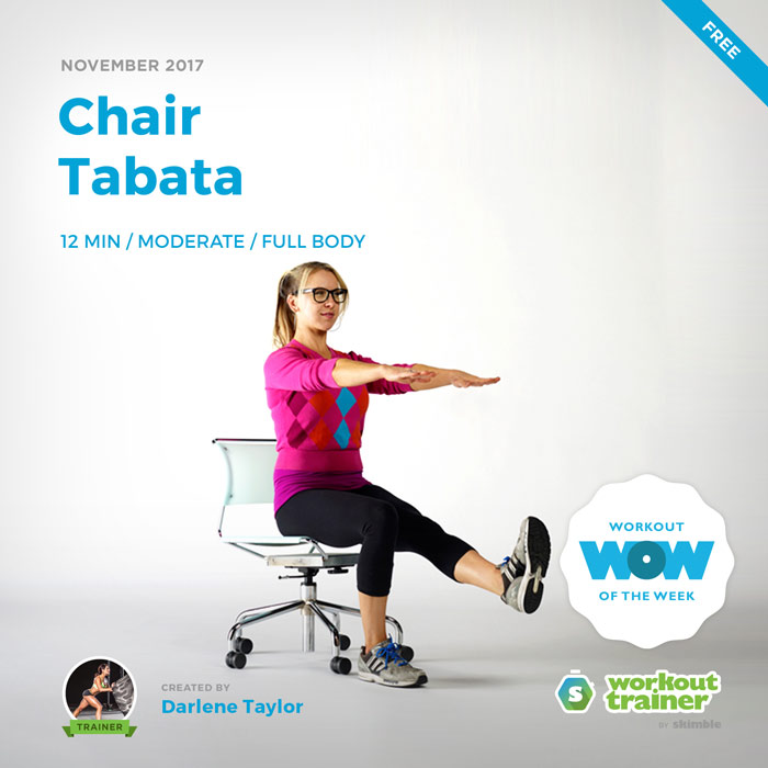 Workout Trainer by Skimble: Free Workout of the Week: Chair Tabata by Darlene Taylor