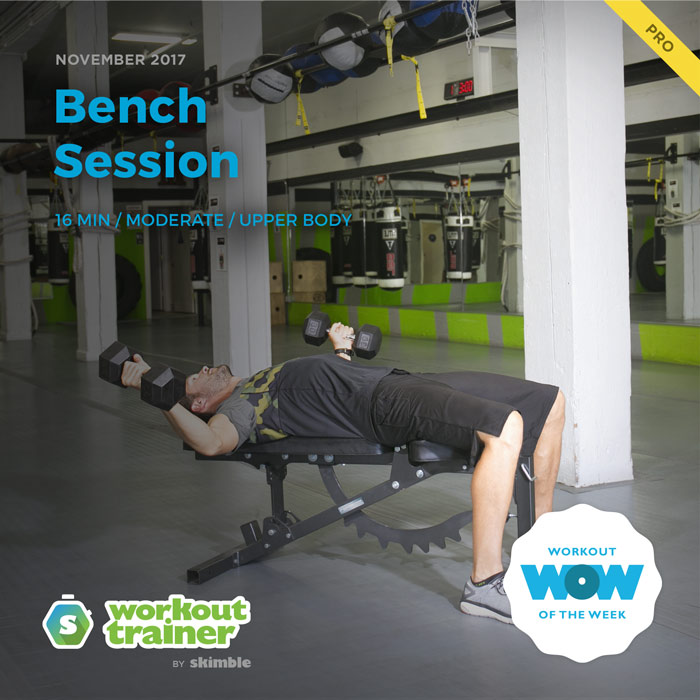 Workout Trainer by Skimble: Pro Workout of the Week: Bench Session