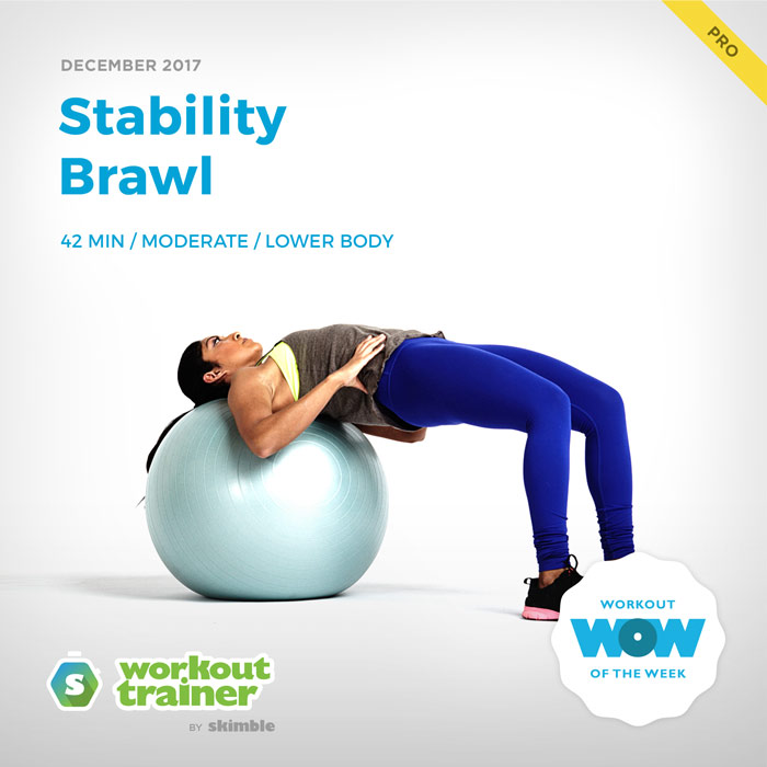 Workout Trainer by Skimble: Pro Workout of the Week: Stability Brawl