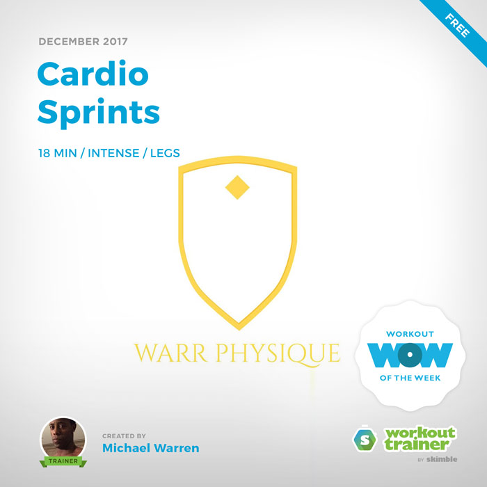 Workout Trainer by Skimble: Free Workout of the Week: Cardio Sprints by Michael Warren