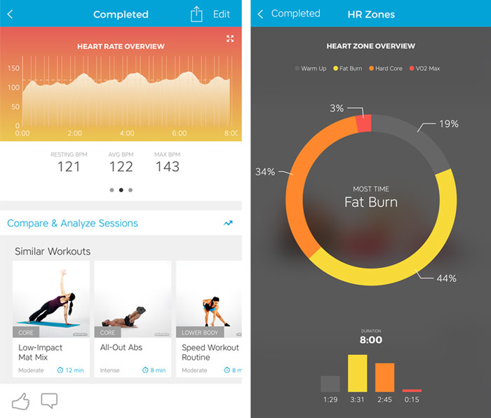 Workout Trainer by Skimble: Heart Rate Feedback: Summary