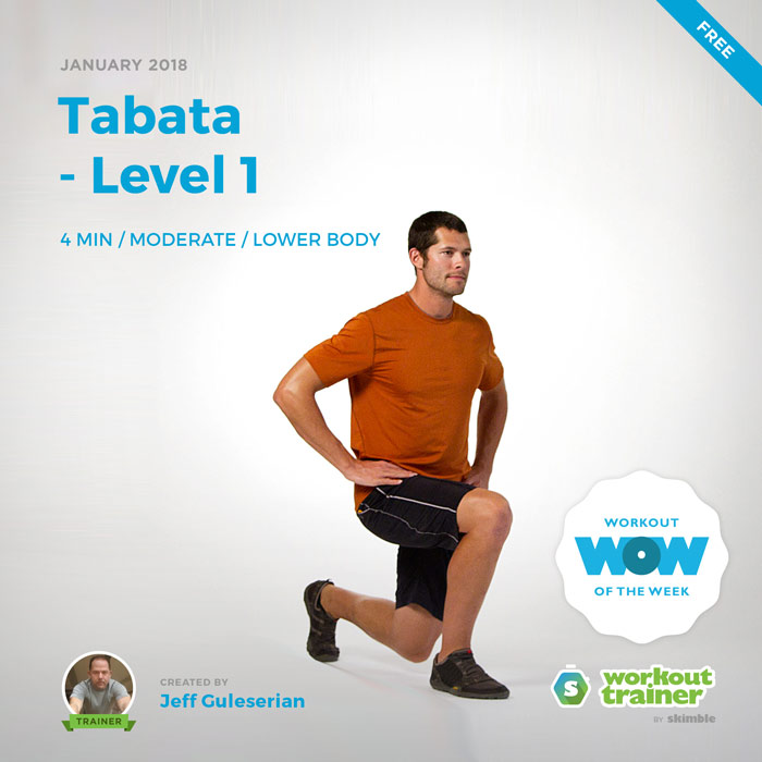 Workout Trainer by Skimble: Free Workout of the Week: Tabata - Level 1 by Jeff Guleserian