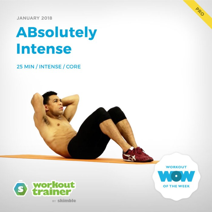 Workout Trainer by Skimble: Pro Workout of the Week: ABsolutely Intense