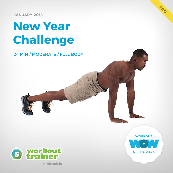 Workout Trainer by Skimble: Pro Workout of the Week: New Year Challenge