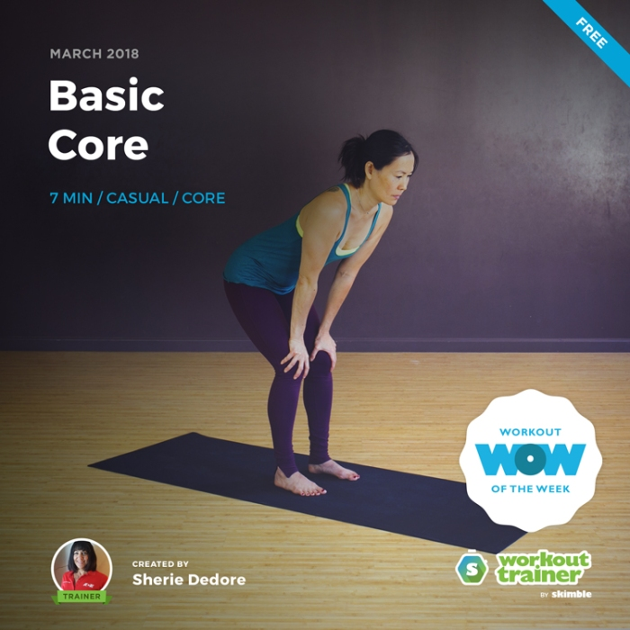 Workout Trainer by Skimble: Free Workout of the Week: Basic Core by Sherie Dedore
