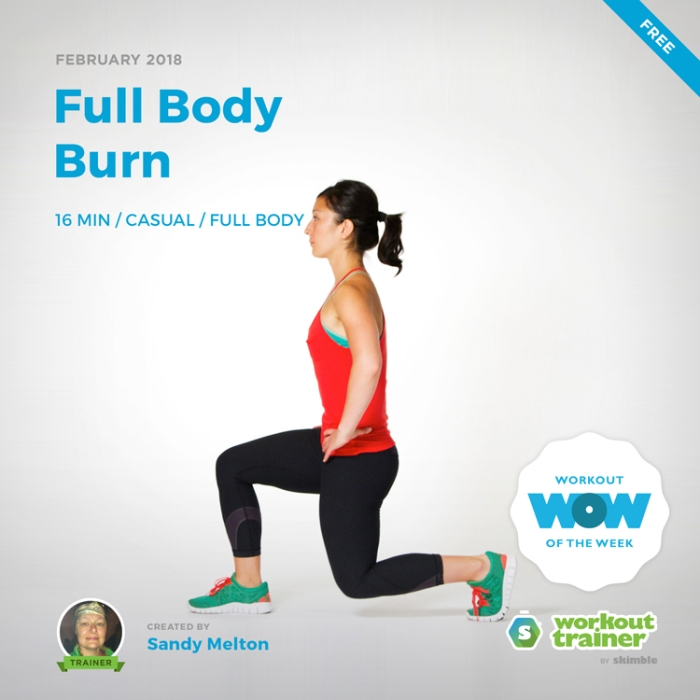 Workout Trainer by Skimble: Free Workout of the Week: Full Body Burn by Sandy Melton