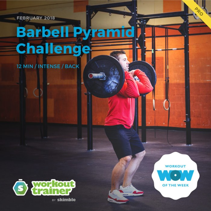 Workout Trainer by Skimble: Pro Workout of the Week: Barbell Pyramid Challenge
