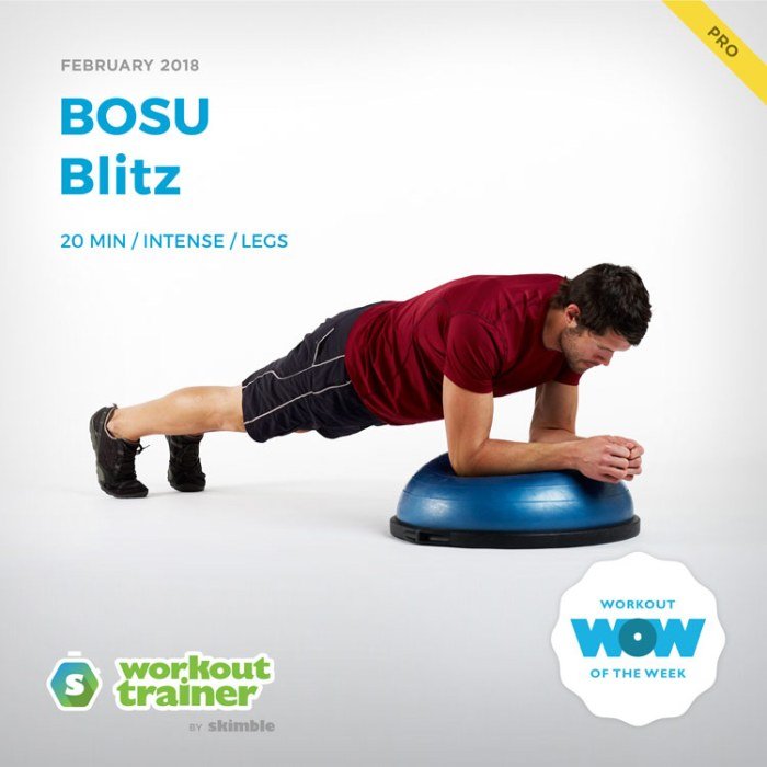 Workout Trainer by Skimble: Pro Workout of the Week: BOSU Blitz
