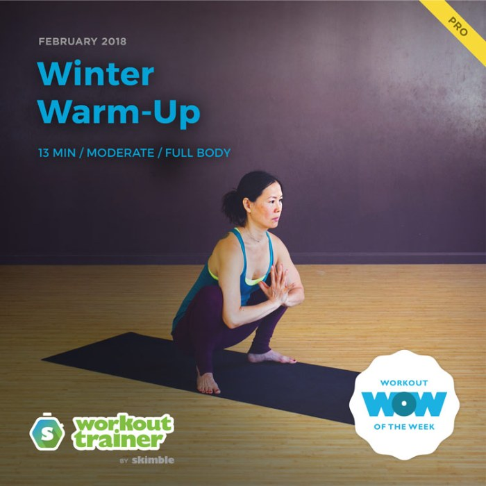 Workout Trainer by Skimble: Pro Workout of the Week: Winter Warm-Up