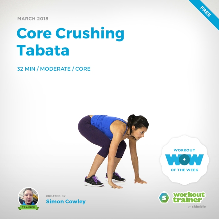 Workout Trainer by Skimble: Free Workout of the Week: Core Crushing Tabata by Simon Cowley