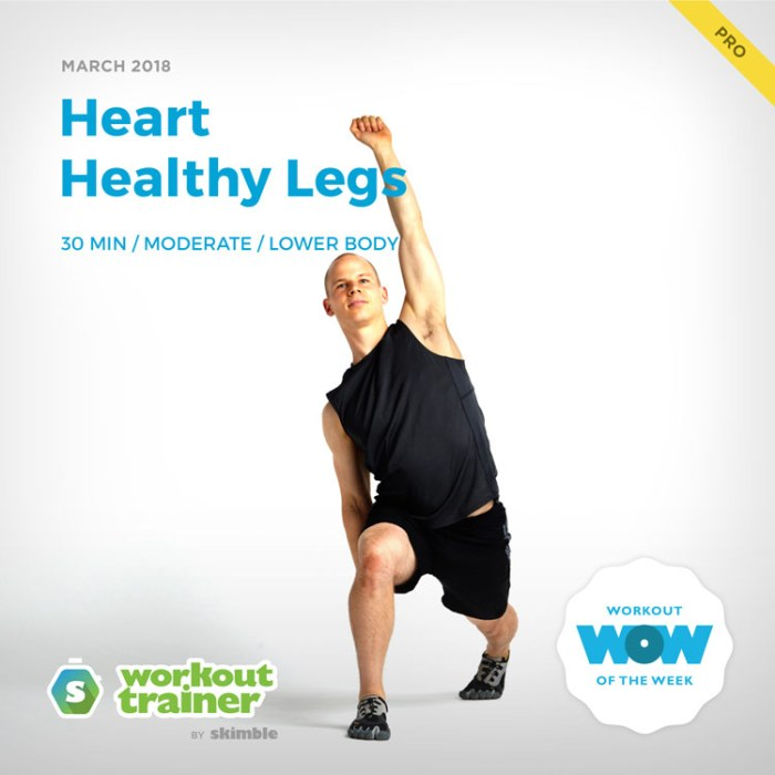 Workout Trainer by Skimble: Pro Workout of the Week: Heart Healthy Legs