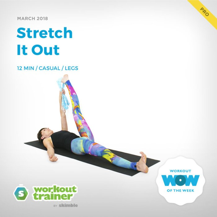 Workout Trainer by Skimble: Pro Workout of the Week: Stretch It Out