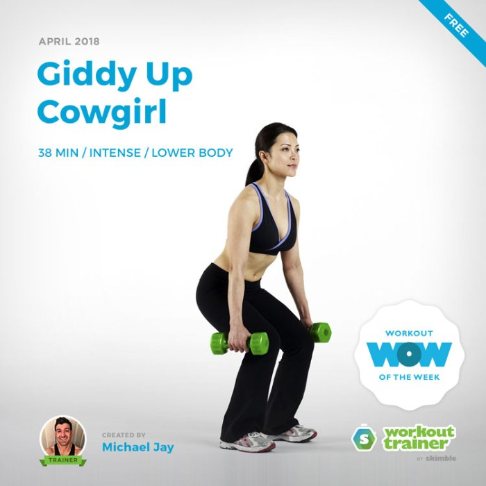 Workout Trainer by Skimble: Free Workout of the Week: Giddy Up Cowgirl
