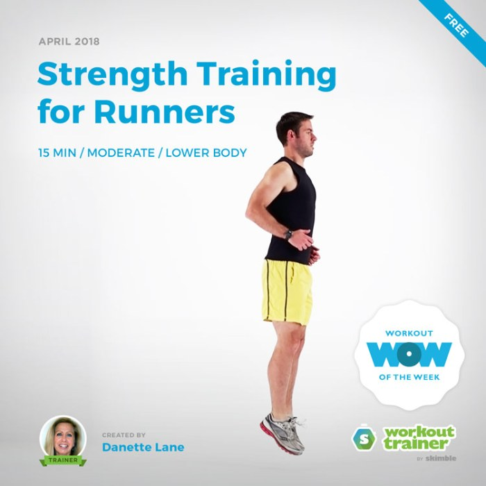 Workout Trainer by Skimble: Free Workout of the Week: Strength Training for Runners by Danette Lane