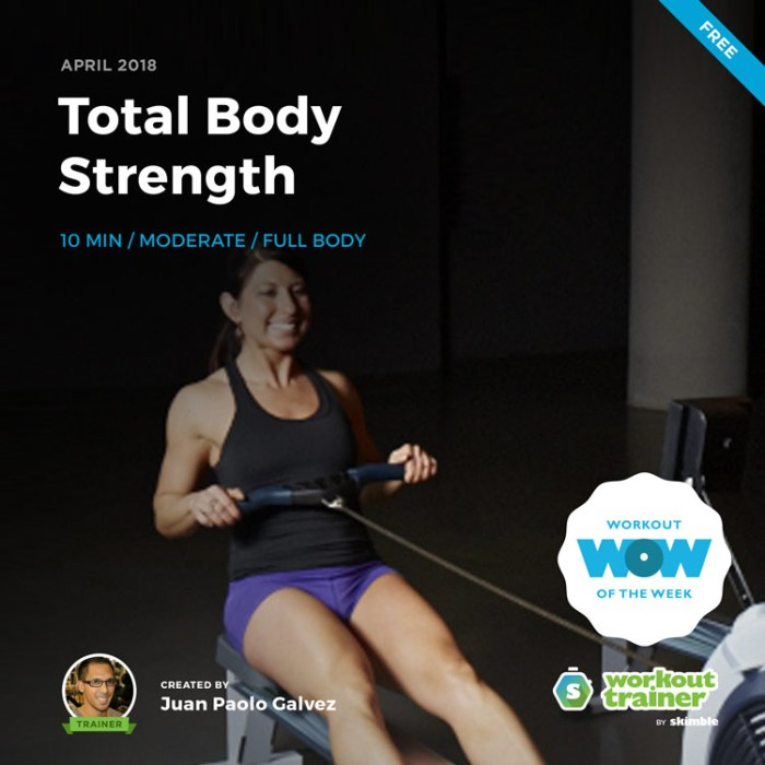 Workout Trainer by Skimble: Free Workout of the Week: Total Body Strength by Juan Paolo Galvez