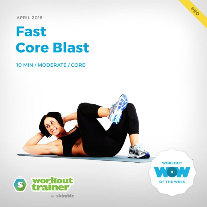 Workout Trainer by Skimble: Pro Workout of the Week: Fast Core Blast