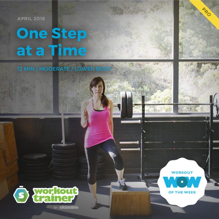 Workout Trainer by Skimble: Pro Workout of the Week: One Step at a Time