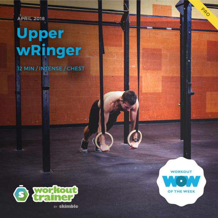 Workout Trainer by Skimble: Pro Workout of the Week: Upper wRinger