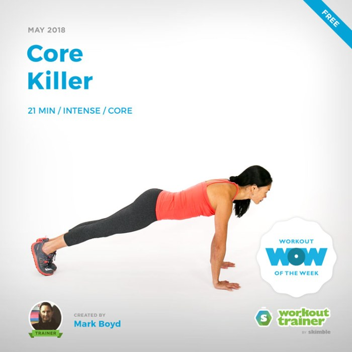 Workout Trainer by Skimble: Free Workout of the Week: Core Killer by Mark Boyd