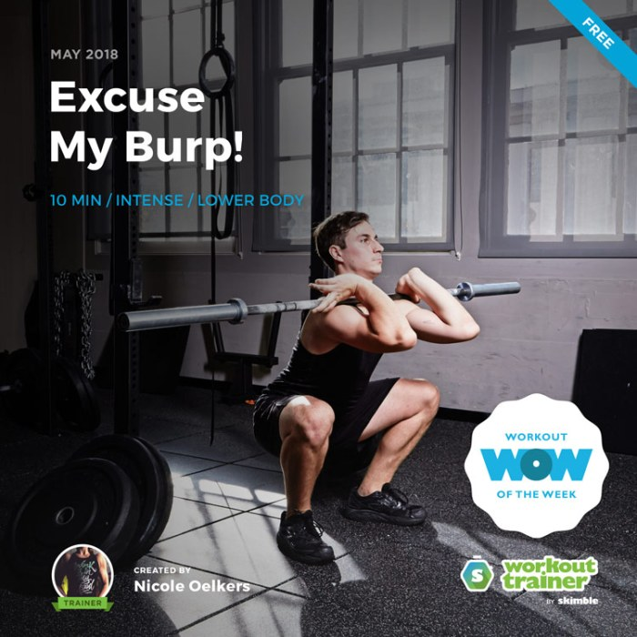 Workout Trainer by Skimble: Free Workout of the Week: Excuse My Burp! by Trainer Nicole Oelkers