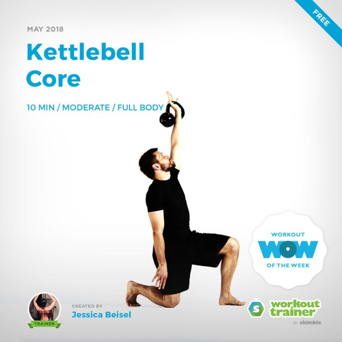 Workout Trainer by Skimble: Free Workout of the Week: Kettlebell Core by Jessical Beisel