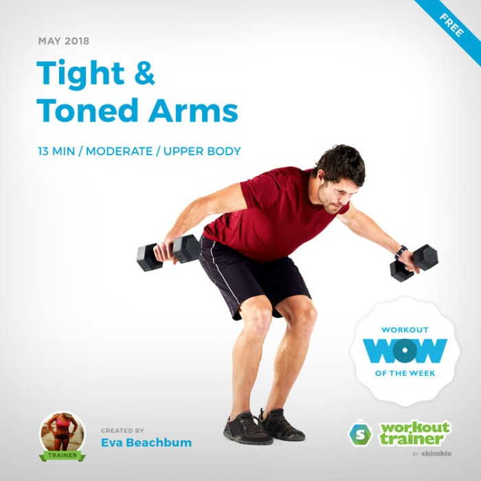 Workout Trainer by Skimble: Free Workout of the Week: Tight & Toned Arms by Eva Beachbum