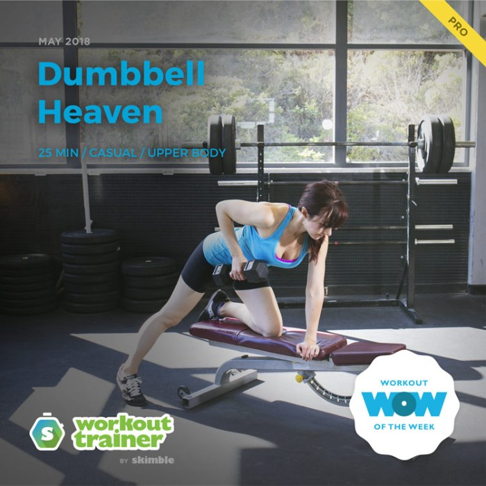 Workout Trainer by Skimble: Pro Workout of the Week: Dumbbell Heaven
