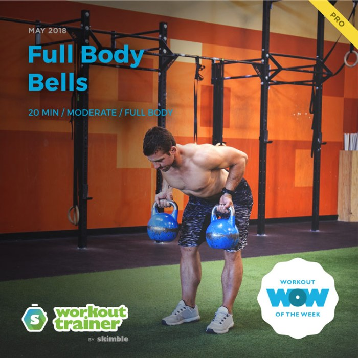 Workout Trainer by Skimble: Pro Workout of the Week: Full Body Bells