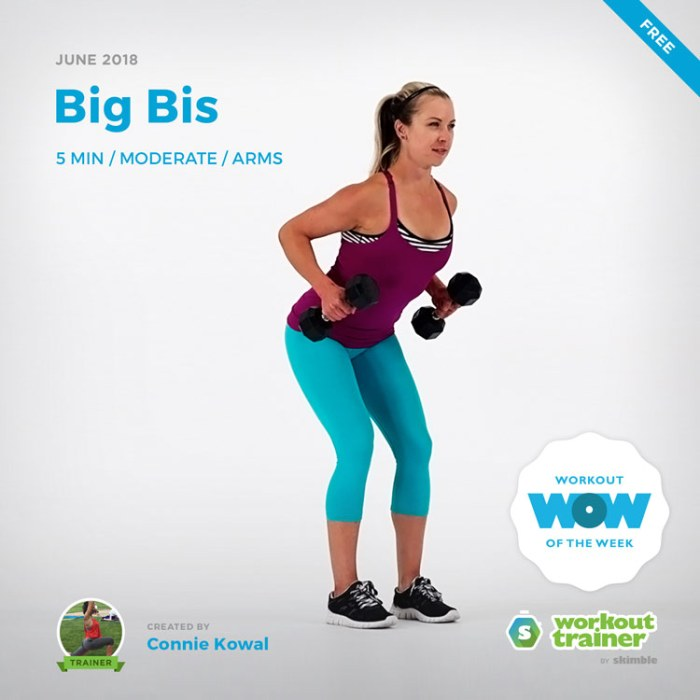 Workout Trainer by Skimble: Free Workout of the Week: Big Bis by Connie Kowal