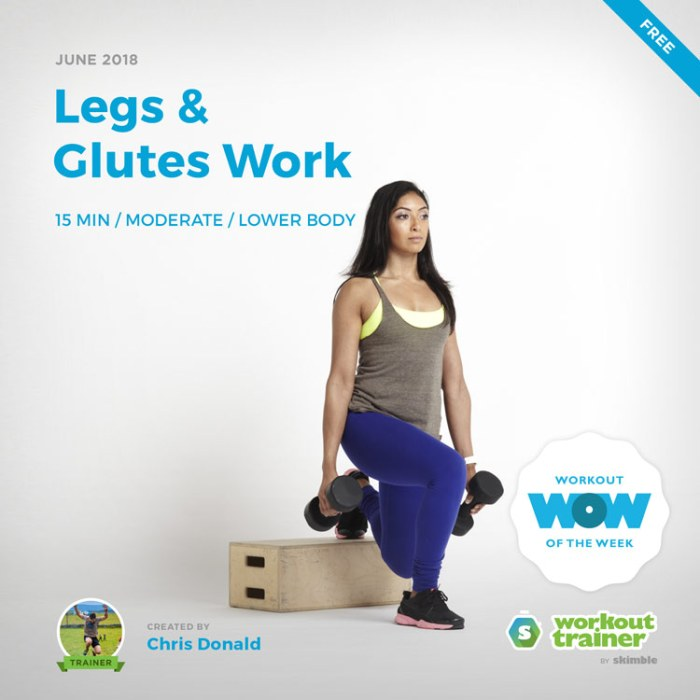 Workout Trainer by Skimble: Legs & Glutes Work by Chris Donald