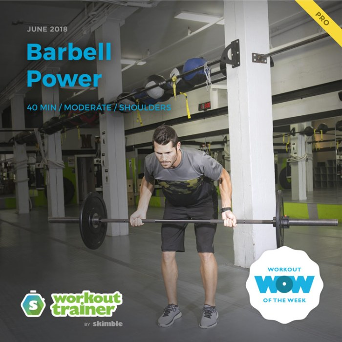 Workout Trainer by Skimble: Pro Workout of the Week: Barbell Power