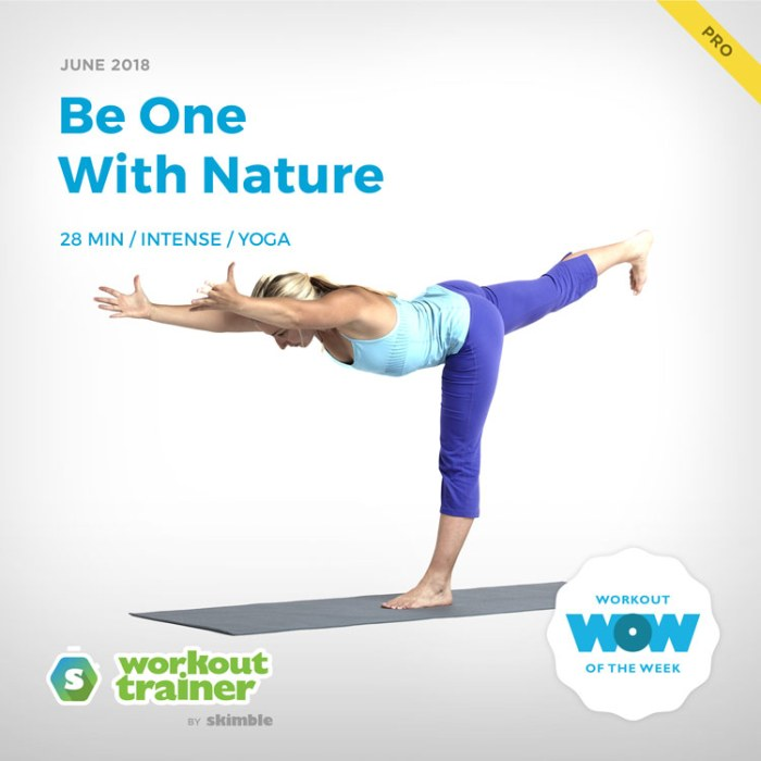 Workout Trainer by Skimble: Pro Workout of the Week: Be One With Nature