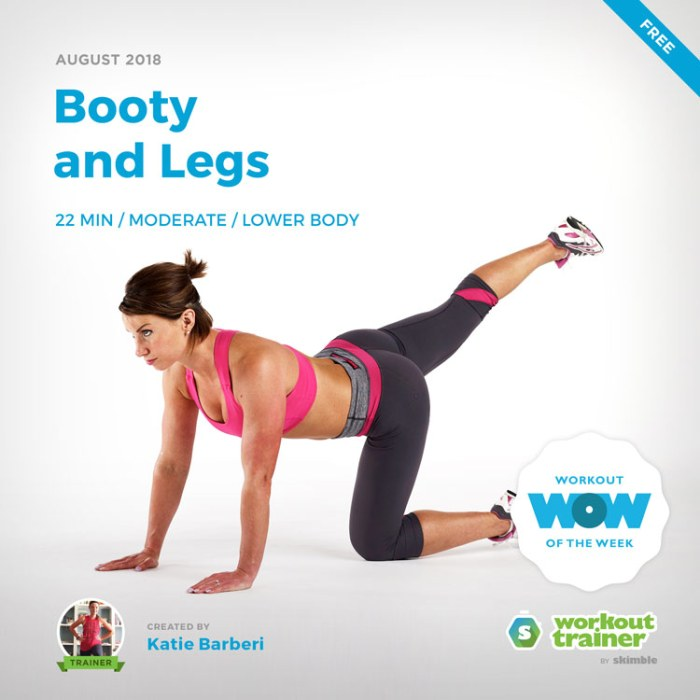 Workout Trainer by Skimble: Free Workout of the Week: Booty and Legs
