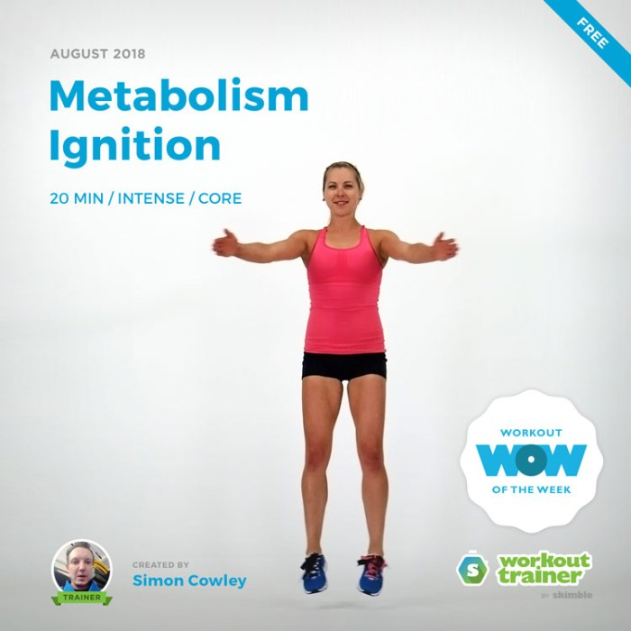 Workout Trainer by Skimble: Free Workout of the Week: Metabolism Ignition by Simon Cowley