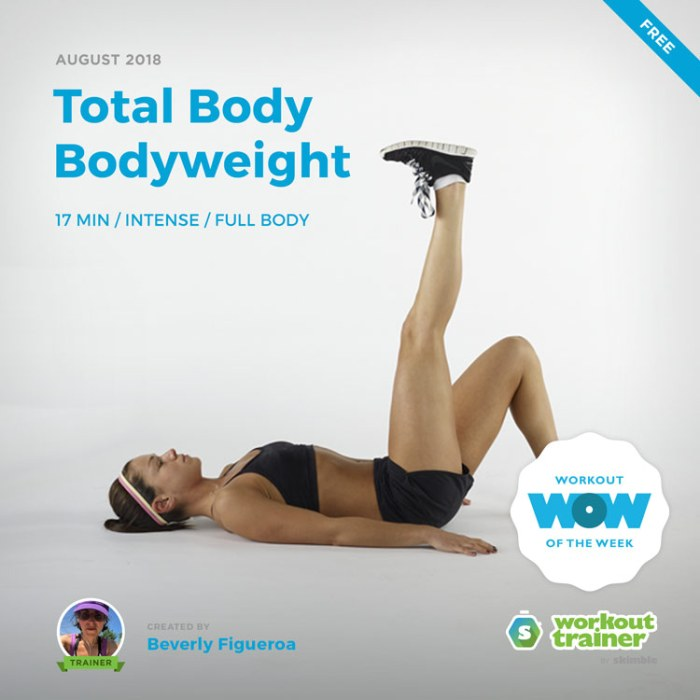Workout Trainer by Skimble: Free Workout of the Week: Total Body Bodyweight by Beverly Figueroa