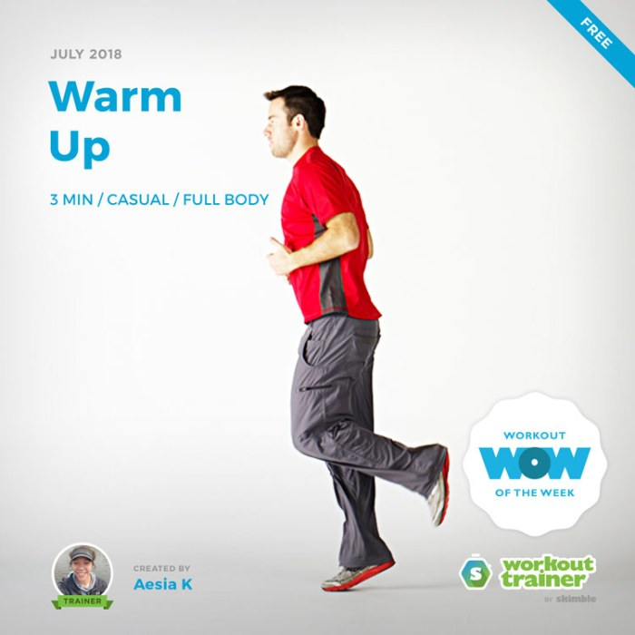Workout Trainer by Skimble: Free Workout of the Week: Warm Up by Trainer Aesia K