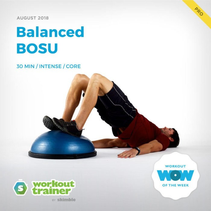 Workout Trainer by Skimble: Pro Workout of the Week: Balanced BOSU