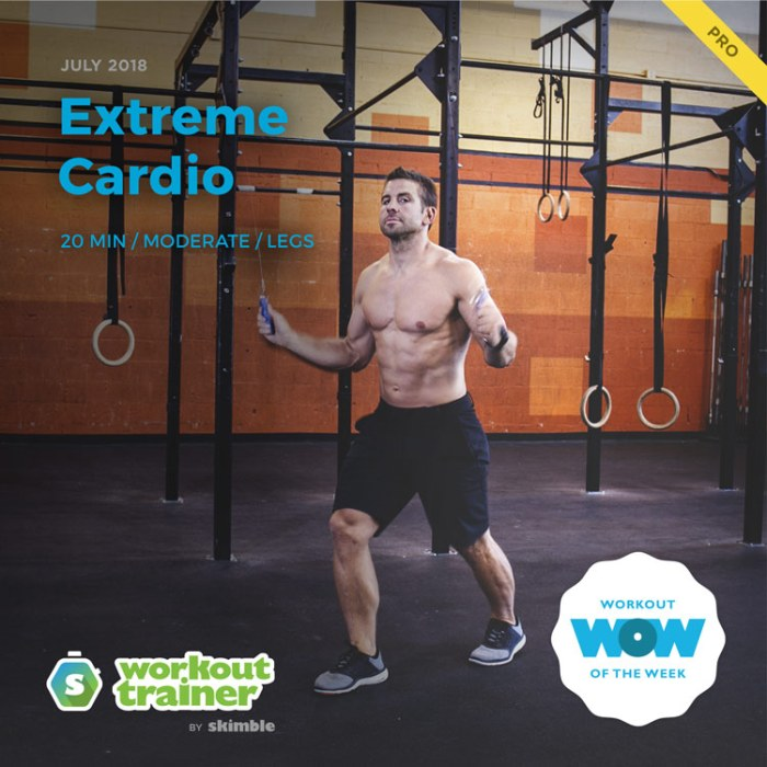 Workout Trainer by Skimble: Pro Workout of the Week: Extreme Cardio