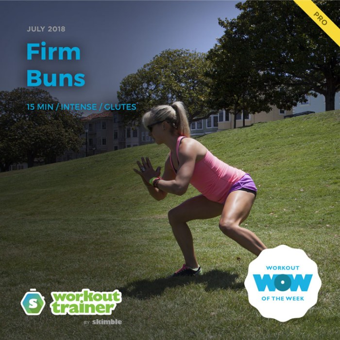 Workout Trainer by Skimble: Pro Workout of the Week: Firm Buns