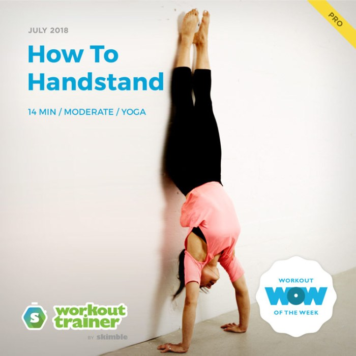 Workout Trainer by Skimble: Pro Workout of the Week: How To Handstand