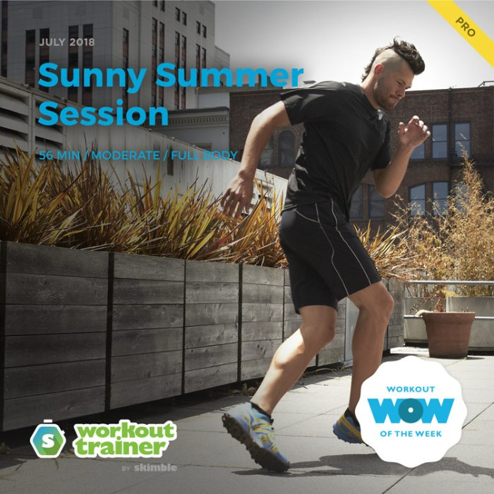 Workout Trainer by Skimble: Pro Workout of the Week: Sunny Summer Session