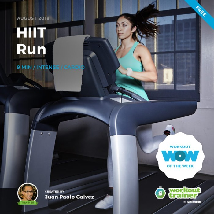 Workout Trainer by Skimble: Free Workout of the Week: HIIT Run by Juan Paolo Galvez