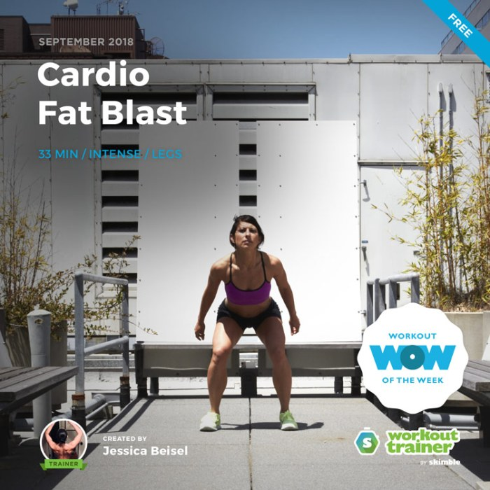 Workout Trainer by Skimble: Free Workout of the Week: Cardio Fat Blast by Jessica Beisel