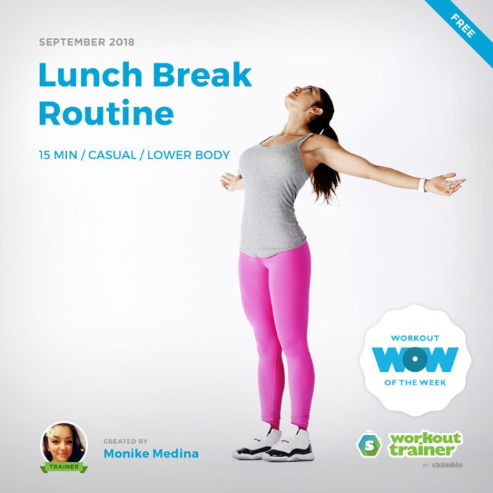 Workout Trainer by Skimble: Free Workout of the Week: Lunch Break Routine by Monike Medina